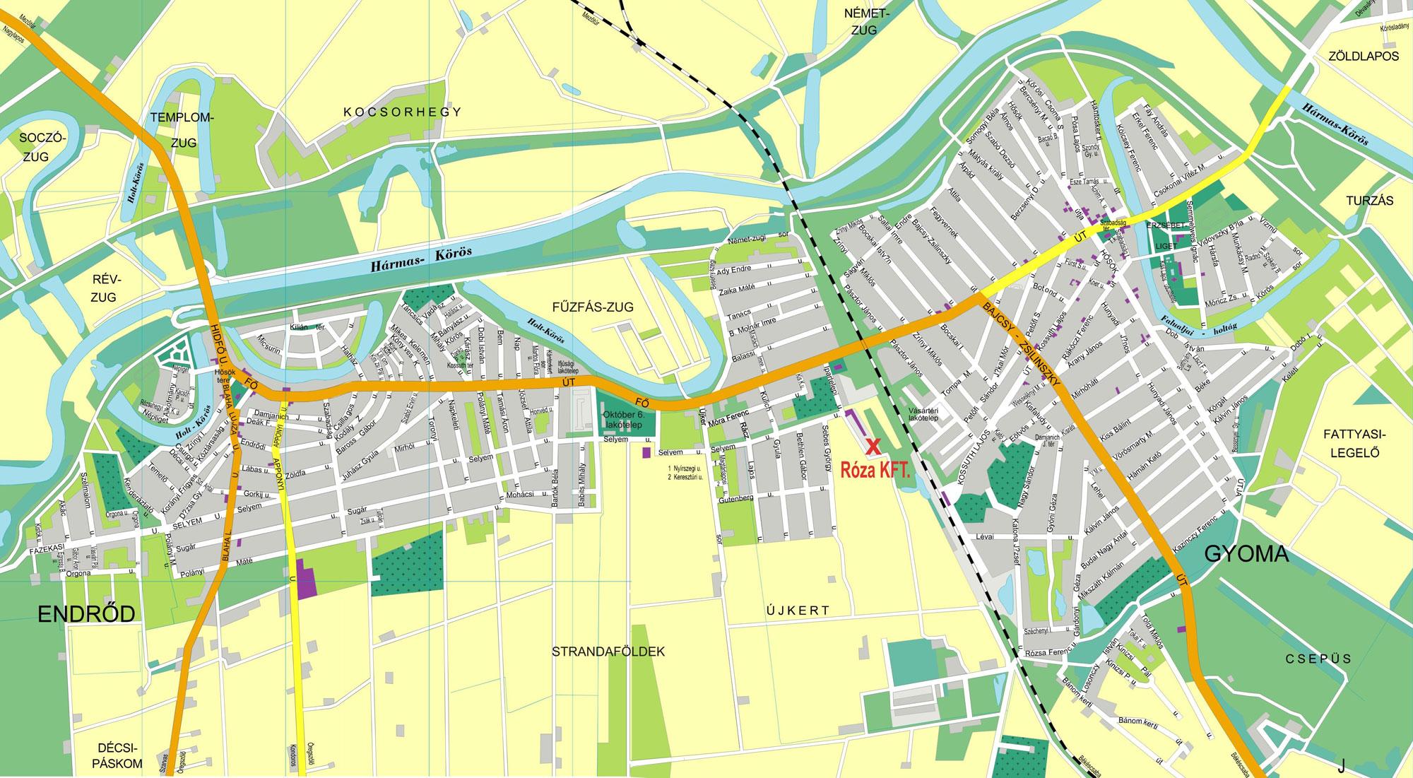 gyomaendrőd térkép Papírdoboz gyártás   nyelvoktatás gyomaendrőd térkép